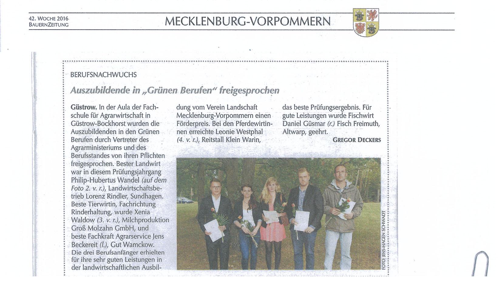 Bauernzeitung 2016