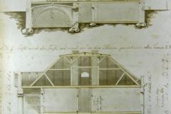 Schnitte durch das Herrenhaus von 1822
